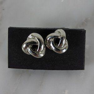 J. Crew Silver Knot Earrings